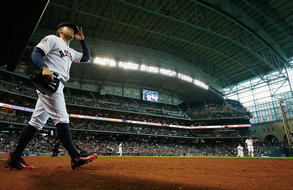 People Art Print featuring the photograph George Springer by Scott Halleran