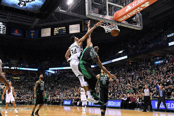 Playoffs Art Print featuring the photograph Giannis Antetokounmpo by Brian Babineau