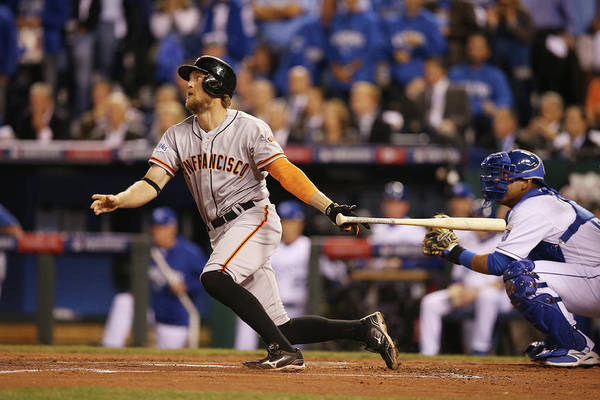 Playoffs Art Print featuring the photograph Hunter Pence by Brad Mangin