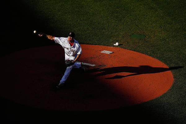 People Art Print featuring the photograph Jake Peavy by Jared Wickerham
