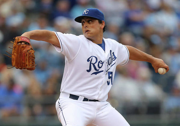 Second Inning Art Print featuring the photograph Jason Vargas by Ed Zurga