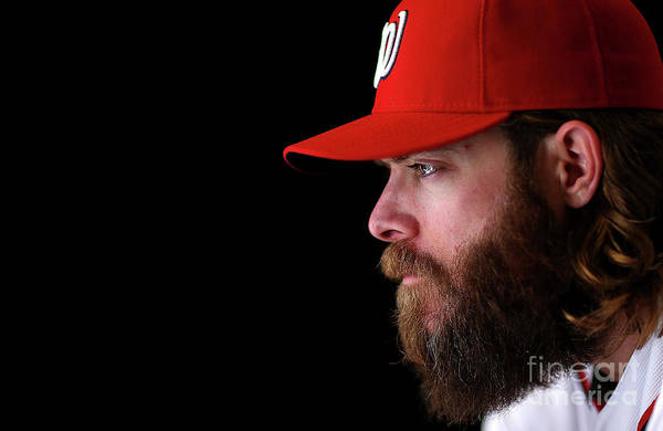 Media Day Art Print featuring the photograph Jayson Werth by Mike Ehrmann