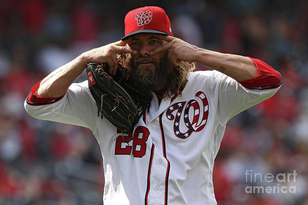 People Art Print featuring the photograph Jayson Werth by Patrick Smith