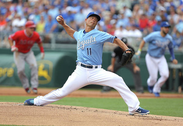 American League Baseball Art Print featuring the photograph Jeremy Guthrie by Ed Zurga