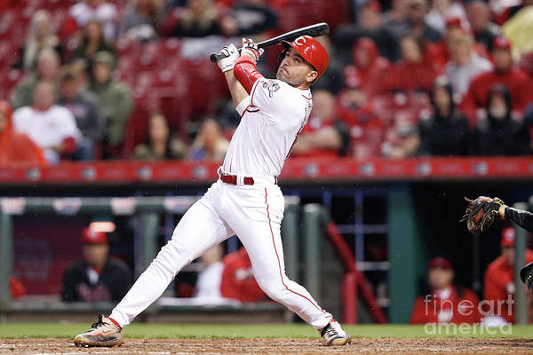 Great American Ball Park Art Print featuring the photograph Joey Votto by Joe Robbins