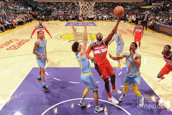 Nba Pro Basketball Art Print featuring the photograph John Wall by Andrew D. Bernstein