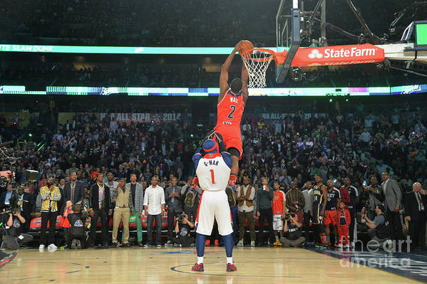 Smoothie King Center Art Print featuring the photograph John Wall by Jesse D. Garrabrant