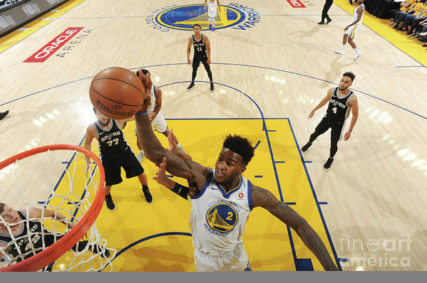 Playoffs Art Print featuring the photograph Jordan Bell by Andrew D. Bernstein