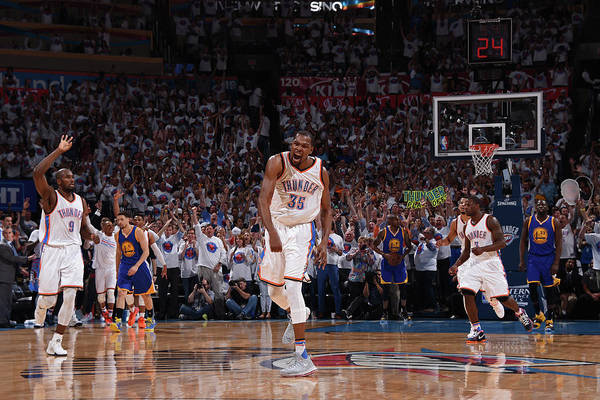 Playoffs Art Print featuring the photograph Kevin Durant by Andrew D. Bernstein