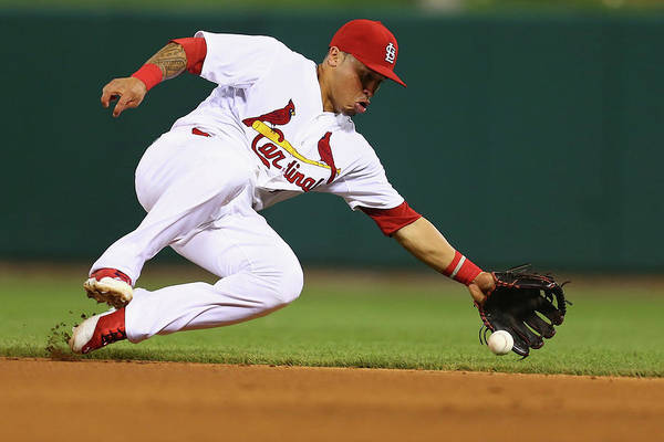 St. Louis Cardinals Art Print featuring the photograph Kolten Wong by Dilip Vishwanat