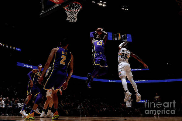 Nba Pro Basketball Art Print featuring the photograph Lebron James by Bart Young