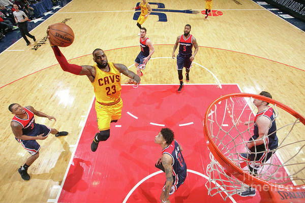Nba Pro Basketball Art Print featuring the photograph Lebron James by Ned Dishman