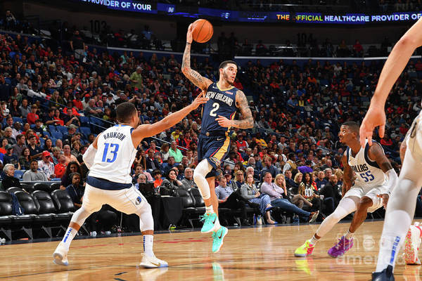 Smoothie King Center Art Print featuring the photograph Lonzo Ball by Jesse D. Garrabrant