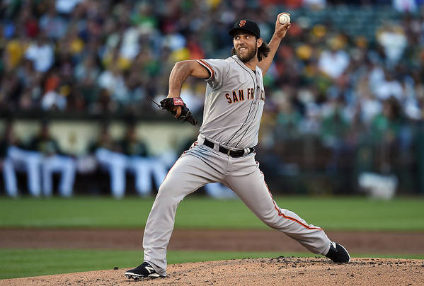 American League Baseball Art Print featuring the photograph Madison Bumgarner by Thearon W. Henderson