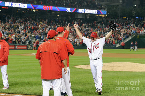 People Art Print featuring the photograph Max Scherzer by Greg Fiume