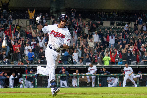 American League Baseball Art Print featuring the photograph Michael Brantley by Jason Miller
