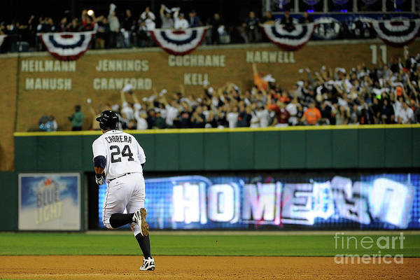 People Art Print featuring the photograph Miguel Cabrera by Kevork Djansezian
