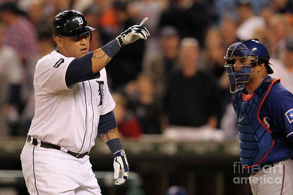 People Art Print featuring the photograph Miguel Cabrera by Leon Halip