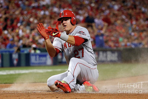 Great American Ball Park Art Print featuring the photograph Mike Trout by Rob Carr