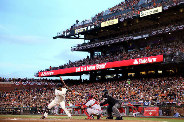 Playoffs Art Print featuring the photograph Pablo Sandoval by Christian Petersen