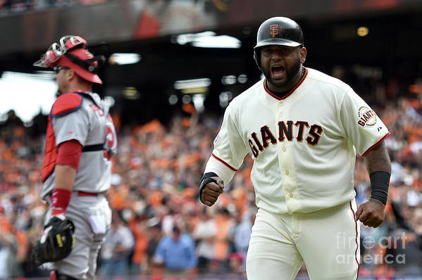 Playoffs Art Print featuring the photograph Pablo Sandoval by Thearon W. Henderson