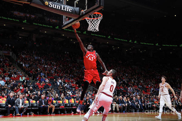 Nba Pro Basketball Art Print featuring the photograph Pascal Siakam by Mark Blinch