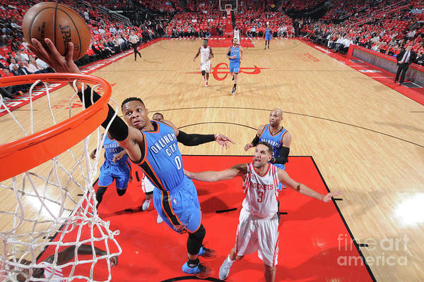 Playoffs Art Print featuring the photograph Russell Westbrook by Bill Baptist