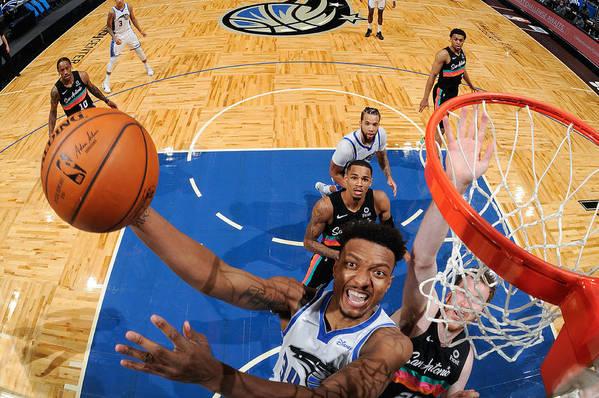 Nba Pro Basketball Art Print featuring the photograph San Antonio Spurs v Orlando Magic by Fernando Medina