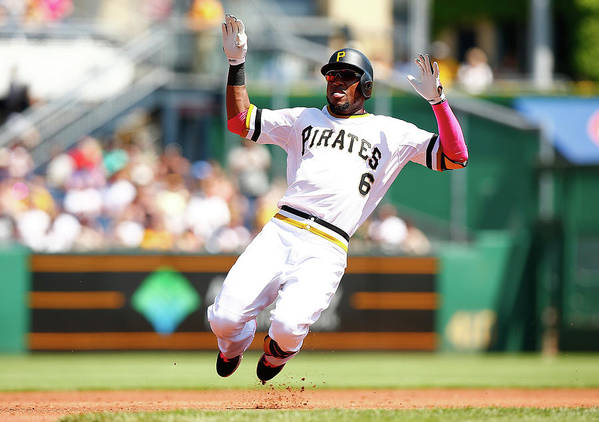 Following Art Print featuring the photograph Starling Marte by Jared Wickerham