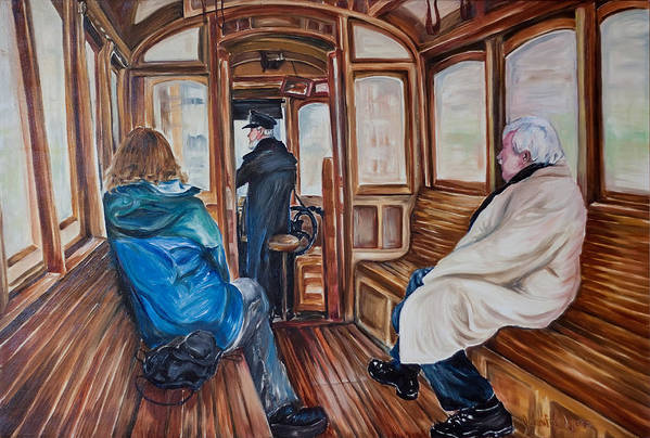Tram Art Print featuring the painting The Tram by Jennifer Lycke