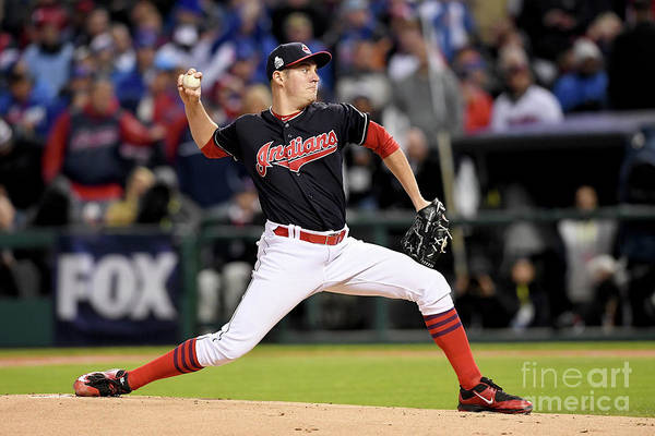 Game Two Art Print featuring the photograph Trevor Bauer by Jason Miller