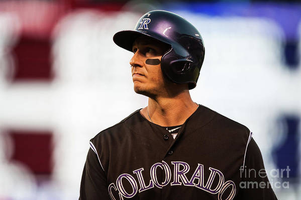 People Art Print featuring the photograph Troy Tulowitzki by Dustin Bradford