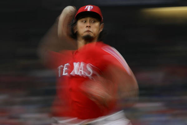Game Two Art Print featuring the photograph Yu Darvish by Ronald Martinez
