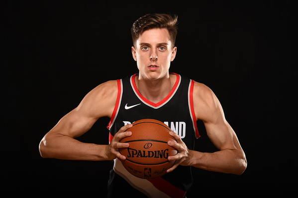 Nba Pro Basketball Art Print featuring the photograph Zach Collins by Brian Babineau