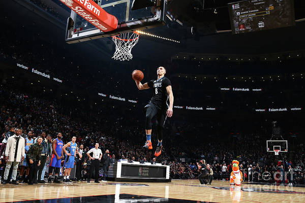 Event Art Print featuring the photograph Zach Lavine by Nathaniel S. Butler