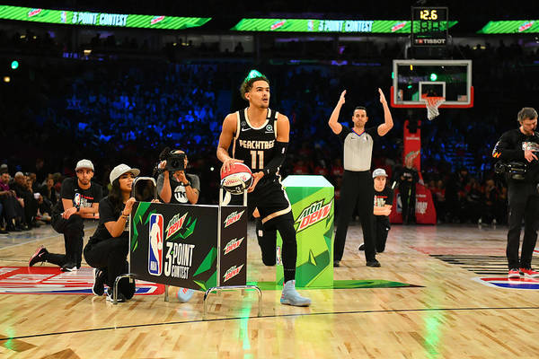 Nba Pro Basketball Art Print featuring the photograph 2020 NBA All-Star - MTN DEW 3-Point Contest by Jesse D. Garrabrant