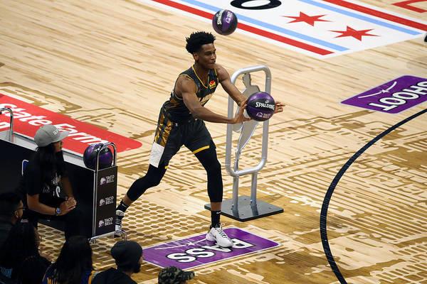 Nba Pro Basketball Art Print featuring the photograph 2020 NBA All-Star - Taco Bell Skills Challenge by David Sherman