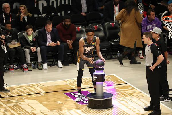 Nba Pro Basketball Art Print featuring the photograph 2020 NBA All-Star - Taco Bell Skills Challenge by Joe Murphy
