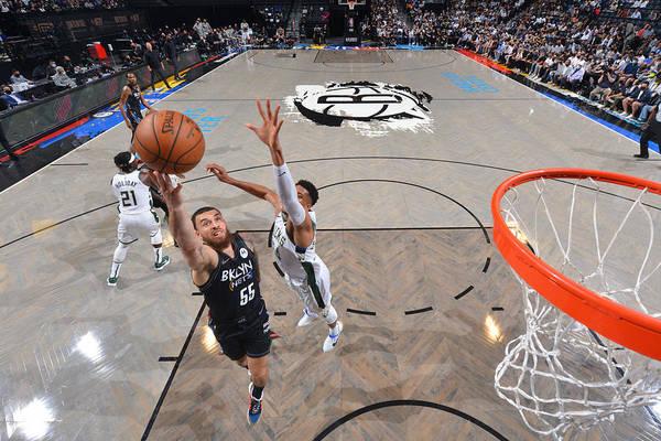 Nba Pro Basketball Art Print featuring the photograph 2021 NBA Playoffs - Milwaukee Bucks v Brooklyn Nets by Jesse D. Garrabrant