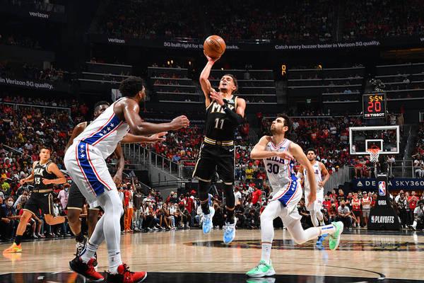 Atlanta Art Print featuring the photograph 2021 NBA Playoffs - Philadelphia 76ers v Atlanta Hawks by Jesse D. Garrabrant