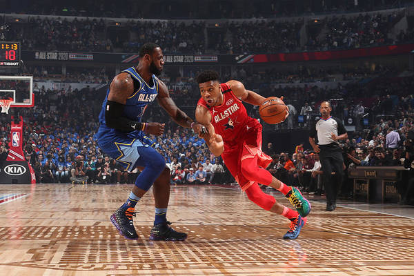Nba Pro Basketball Art Print featuring the photograph Giannis Antetokounmpo by Nathaniel S. Butler