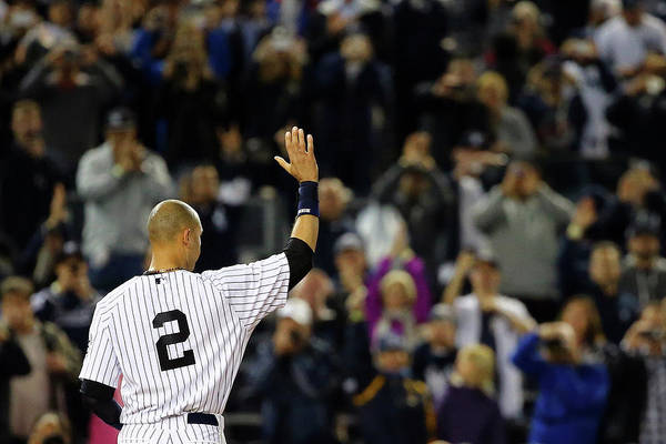 Ninth Inning Art Print featuring the photograph Derek Jeter by Al Bello