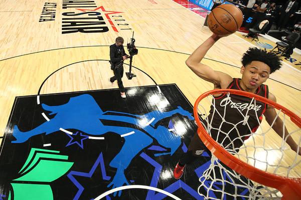 Atlanta Art Print featuring the photograph 2021 NBA All-Star - AT&T Slam Dunk Contest by Joe Murphy