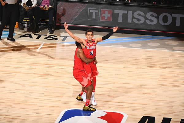 Nba Pro Basketball Art Print featuring the photograph 69th NBA All-Star Game by Garrett Ellwood