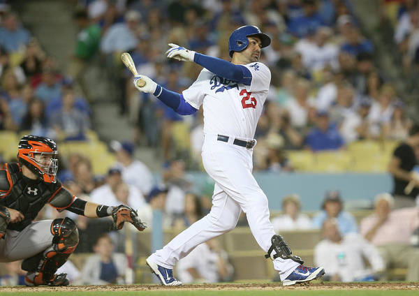 People Art Print featuring the photograph Adrian Gonzalez by Stephen Dunn