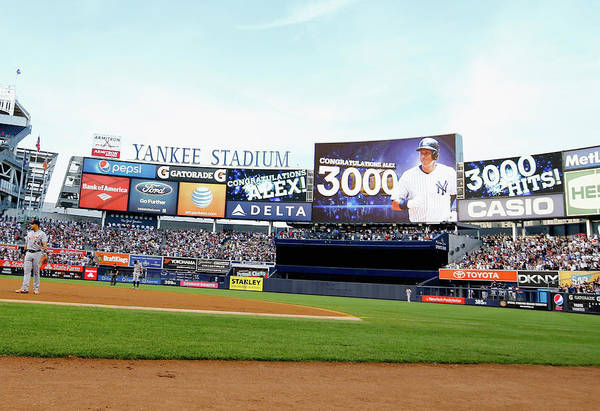 People Art Print featuring the photograph Alex Rodriguez by Al Bello