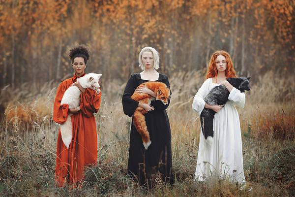 Portrait Art Print featuring the photograph Autumn Equinox by Anastasiya Dobrovolskaya