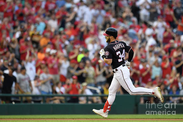 People Art Print featuring the photograph Bryce Harper by Patrick Mcdermott