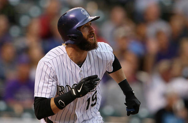 American League Baseball Art Print featuring the photograph Charlie Blackmon by Doug Pensinger