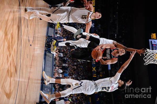 Playoffs Art Print featuring the photograph C.j. Mccollum by Bart Young
